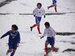 雪上プレイに四苦八苦